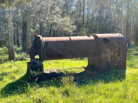 Old boiler abandoned in paddock