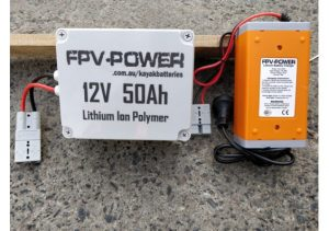 12V 50AH Motor battery and charger