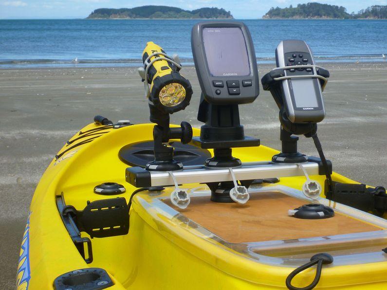 Railblaza accessories on Viking Kayak Profish 400
