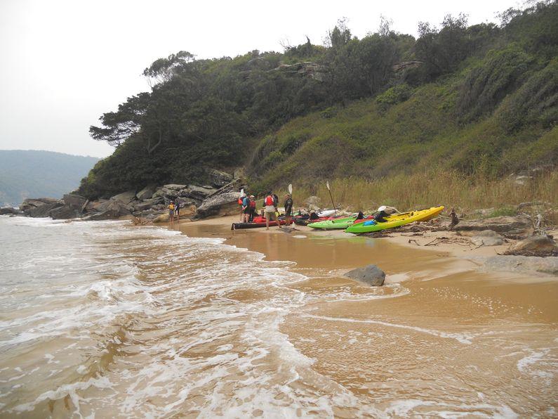Rest stop on Beach on Lion Island